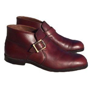 Johnston and Murphy Burgundy Chukka Boots 8.5D